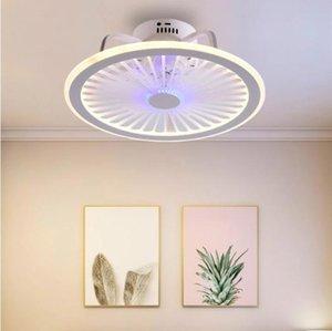 Ceiling Fans HengYuan Lighting Intelligent Fan Lamp Modern Design Led Creative Bedroom Study Restaurant Three Color Remote Co