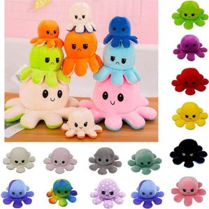 5 PCs Reversible Flip Octopus Stuffed Plush Doll Soft Simulation Reversible Plush Toys Color Chapter Plush Doll Child Toys FY730