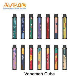 Original Vapeman Cube Disposable 1600 Puffs Kit 4.5ml Pod Device 850mAh Battery Disposable Vape Pen