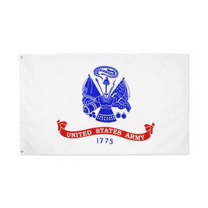 US Army Flag 3x5 Foot White Military United States Veteran Banner FLAG 1775 90*150cm Garden Wall Decor Flag For Outdoor Indoor Decor