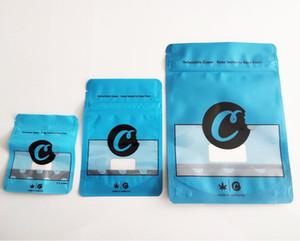 NEW28G Biscuits Bleu Californie SF8TH 3.5G Mylar Sacs à enfants 420 Emballage Sac de biscuits connectés Taille 7G 28g 3,5 g-1/8 Sacs DHL FedEx