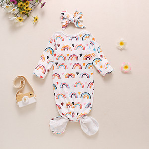 Newborn Floral Swaddle Blankets With Hairband Set Euro America Baby Bedding Infant Toddlers Rainbow Swaddles Receiving Blanket