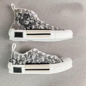 2021 Rilasciato B23 High Top Sneakers Sneakers Obliqui Uomo Donne Designer all'aperto Casual Transparent Letters Low Trainer Tela con scatola