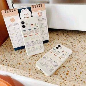 phone case for IPHONE12 case 12 pro max X Xs Max XR 11 Pro Max 2021 Calendar Date Soft TPU Case