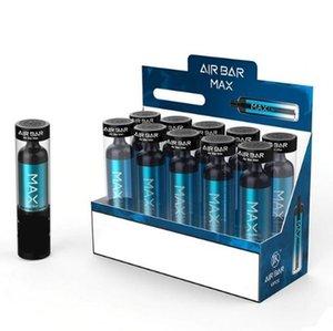 2021 Mais novo Air Bar Max Dispositivo Vape Pens Pods Airbar 1250mAh Bateria 2000 Puffs Barra Puff Descartável Vape Canetas Descartáveis Ecig