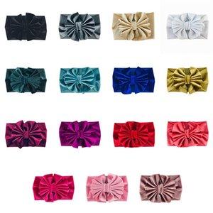 15 couleurs bébé filles or velvet bandes bandes d'archet enfants arcknot princesse bande solide cheveux bandes enfants boutiques cheveux accessoires m2495 147 y2