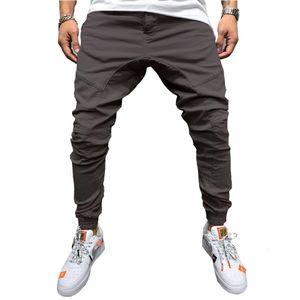Casual 2021 Pencil Pants Joggers Sweatpants Men Hip Hop Solid Slim Trousers Autumn New Male Fashion Streetwear Cotton Trackpants QD50