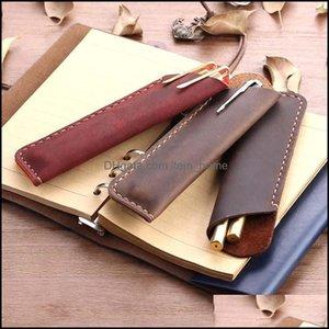 Pencil Cases Business & Industrialpencil Bags Handmade Cowe Bag Vintage Style Pen Case Retro Fountain Holder School Office Supplies Kawaii S