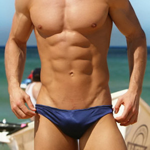 Men's Sexy Swimming Suit Low-Rise Solid Men Swim Briefs Hot Summer Beach Shorts Guy Swimwear Men Sportswear Bikini For Male 081 L0227