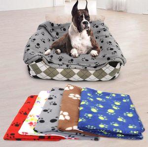 Hundebedeckung Hundeklaue gedruckt Decken Wehrtier Haustier Katze Schlafmatte Haustiere Badetuch Warm Winter Pet Supplies 60x70cm Ahd4951