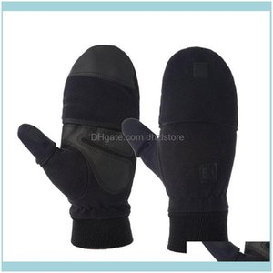 Protective Gear Sports & Outdoorspair Fashion Winter Warm Gloves Windproof Fingerless Cycling Durable Comfortable Black Male Non-Slip Drop D