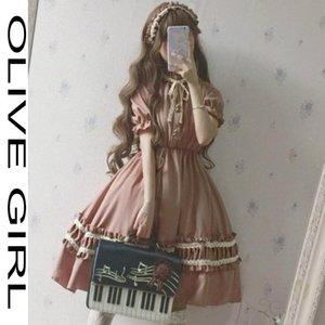 Casual Dresses 2021 Girl Victorian Medieval Gothic Lolita Dress Women Vintage Long Sleeve Retro Temperament Tea Party Sweet