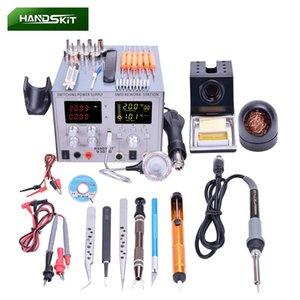 Profesyonel Isı Tabancaları 4 1 Dijital Lehimleme Demir SMD ABD AB BGA Rework Lehim İstasyonu USB 5 V 2A DC Güç Kaynağı 30 V 5A Hava Tabancası