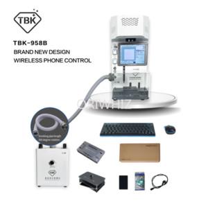 Macchina per la stampante per incisione del taglio laser a fuoco automatico, dispositivo di rimozione del vetro posteriore per iPhone, telefono cellulare TBK 958B