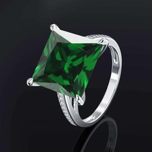 HBP fashion large luxury simulation diamond proposal versatile super flash zircon ring jewelry