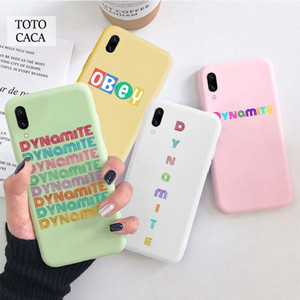 Pink 2020 New Album DYNAMITE Soft Phone Case for Iphone X Xr Xs Max 6S 6 7 8 Plus SE Kpop Korean Soft Back Cover for Iphone