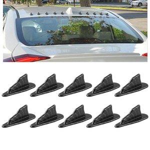 wtyd for stickers 10 PCS Universal Car Carbon Fiber Shark Fin Diffuser Vortex Generator Roof Spoiler