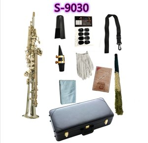 YANAGISAWA S-9030 B(B) Tone Soprano Saxophone Nickel Plated Tube Gold Key Professional Sax With Mouthpiece Case and Accessories