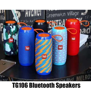 TG106 Bluetooth Wireless Speakers Subwoofers Handsfree Call Profile Stereo Bass Support TF USB Card AUX Line In Hi-Fi Loud Mini Portable Outdoor Speaker DHL