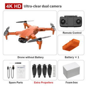 L900 pro 4K HD dual camera GPS 5G WIFI FPV real-time transmission brushless motor rc distance 1.2km professional drone with Foam box