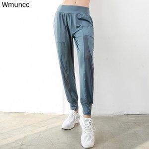 WMUNCC Fitness Correndo Largo Perna Solta Harem Sports Calças de Yoga Malha Calças Mulheres Jogger Slim Sportwear Respirável q0126