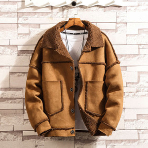 men's plus size cashmere winter Cotton padded jacket trend clothing tooling
