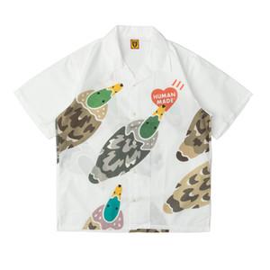 Human made 20ss Short Sleeve Shirt Green head love duck animal Hawaiian couple loose ins