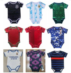 2021 baby jerseys MEXICO ARGENTINA JAPAN soccer jersey 1-24 month nation team pulisic club teams real madrid 1 year 2 years old child football shirts