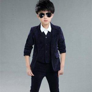 DHL10 Pieces   Wholesale Kids School Suit for Boys England Style Boys Formal Wedding Blazer Suit Boys Performance Suit Party Tux T200819
