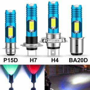 Украшение партии H4 H6 BA20D P15D светодиодный мотоцикл лампочки мотоциклов RGB Moto лампы мотоцикл аксессуары
