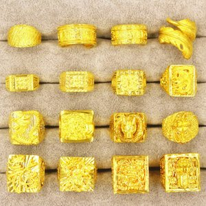 Nansha Domineering мужская мода дракона кольцо европейская монета медное покрытие толстые золотые украшения