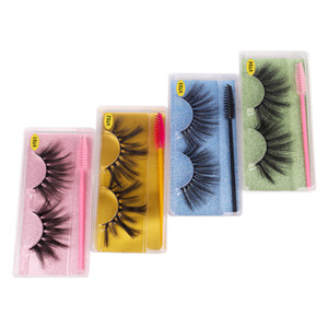 3D False Eyelashes Wholesale 15 styles Mink Lashes Fake Eyelashes Makeup Extension 25MM thick eyelash packaging box fast free FedEx Shipping