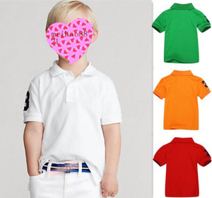 Kids Polo Shirt Summer Short Sleeve Tops Lapel 10 Color Sport Polos Holiday Baby Boys Girls T-Shirts Outfits Children Clothes