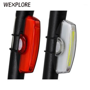 Bike Lights Rear Light USB Rechargeable Bicycle COB Lamp Led Tail Front Cycling Safety Set1