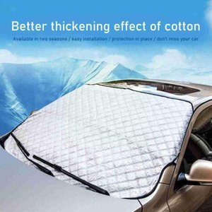 Car Sunshade Curtain Thickened Sunscreen Single Temperature Anti-ultraviolet Windshield Front Aluminum Reduces G8b2