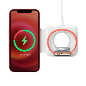 Magnetic Safe Duo 15W Fast Wireless Charger Pad For Watch iPhone 12 Pro Max Airpods Pro QI Wireless Charging Dock station X0124