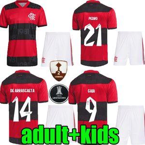 Erwachsene Kinder 2021 2022 Flamengo Home Fussball Jerseys Camisetas de Fútbol 21 22 Flamenco Gabriel B. Diego Pedro Gerson Menchild Football Shirt