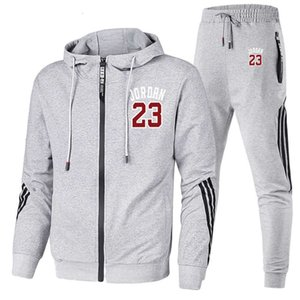 2021 Chunqiu tide brand hooded sweater suit men's casual Sweatshirt new two piece set tracksuit
