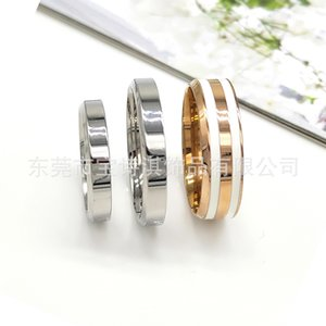Titanium Steel d Home w Ring Fashion Simple Color Dripping Enamel Stainless