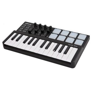 Worlde Panda Midi Keyboard Mini ?25 Velocity-sensitive Keys USB Powered with Portable Keyboard and Drum Pad MIDI Controller