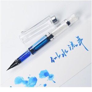 Piston Brush Pen Fountain Pen Forillable Ink Calligraphy Marker Fountain ручки для написания школьного искусства поставляет ST JLLTQX