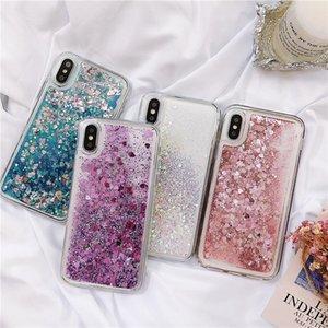 Love Heart Heart Quicksand Coque Téléphone pour Samsung Galaxy A30 A20 A20E A40 A50 A60 A60 A50 A10 M10 m20 M30 A10S Couverture liquide dynamique