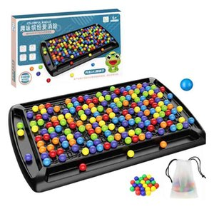 Rainbow ball toys, colorful fun jigsaw puzzle, board game with 80u. beads, intelligence gam, educational toys82U4