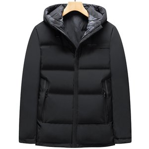 Winter 2021 New Men's Fattening Plus Size Fashionable Casual Double Faced Hooded Down Jacket