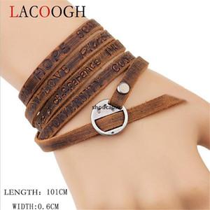 JH Cheap Designer Lagough Marron Multi -women Long Bracelet -101cm Regolabile New Bracelet Bracelet Monili da uomo