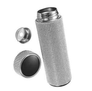500ml Bling Bling Diamond Thermos Bottle Stainless Steel Water Bottle Smart Temperature Display Vacuum Flask Coffee Tea Mug Gift for Women