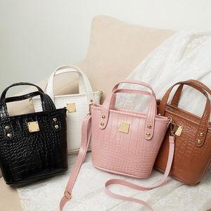 Wholesale Rivet Bucket Bag Handbag 2020 Hot Solds Women Fashion Handbags Shoulder Bags High Quality Designer Crossbody Bags Crocodile