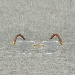 Natural Wood Square Bright Buffalo Horn Oversize Random Frame for Men Read Optical Oval Eye Glass