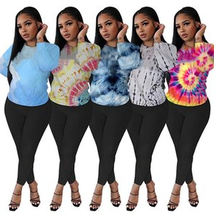 Womens Sportswear Two Piece Set Outfits Long Sleeve Tracksuit Classic Print Sport Suit Comfortable Fashion Women Clothing Hooded K4662