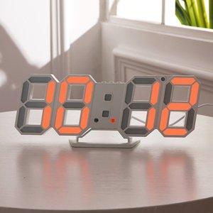 Современный дизайн 3D светодиодные настенные часы современные цифровые будильники дисплей дома гостиная офисная таблица стол ночной настенный дисплей 46 S2
